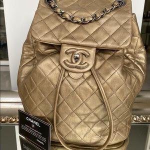 Chanel Gold Backpack